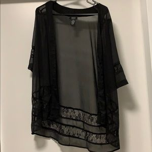 Black Lacey Kimono